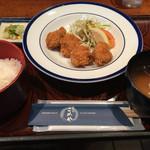 食事処こめや - チキンカツセット  税込み313円