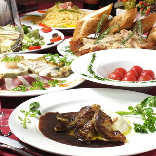 フォアグラが食べられる8種の料理+飲み放題が4500円☆