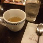 卵と私 - スープとお水