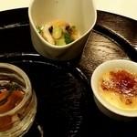 レストラン マノワ - 3種のアミューズ