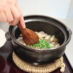 青草窠 - 御飯:鮎ごはん