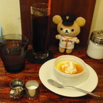 ヒヨリ+キッサ - アイスコーヒー&プリン