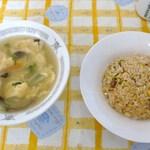 とくみ - (2015-9-26)チャーハン+玉子スープ