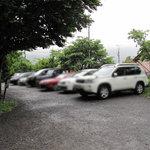 佐土野家 - 昼の12時くらいにお店に到着。既に専用駐車場には車が一杯。