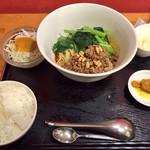 蔓山 - 成都担々麺のランチセット♬