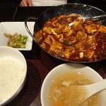 過門香 - 重慶式 麻婆豆腐セット:1,350円