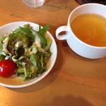 42349893 - セットサラダとスープ