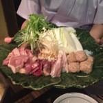 Yakitoriakira - コースメイン (鶏しゃぶ 具材)