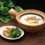 鵬天閣 酒家 - 豚レバーお粥
