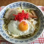 星川製麺 彩 - 料理写真:焼きラーメン塩(350円)15.09月
