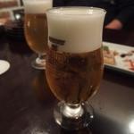 肉バル NORICHANG - まずは生ビールから