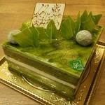 ガトーナチュール - バースデーケーキ♪ こいまっちゃ  本当に濃い抹茶です!『こいまっちゃ』は、どんどん進化していて、さらに美味しくなっています♪
