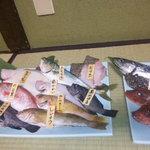 4236292 - 焼き物は多数の魚介をその場でチョイスできます。