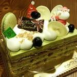ガトーナチュール - クリスマスケーキ♪ ピスタチオです♪