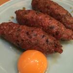 義仲 - 料理写真:今宵はスーパームーンからの〜、名物つくね焼き。