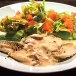 南あわじ美食農園オリザ - 本日の白身魚のきのこクリームソース