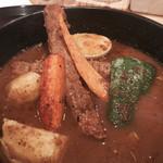 スープカレー 米KURA - 「手仕込みシシカバブのスープカレー」980円