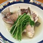 鮨・淡路 - 鯛の酒蒸し