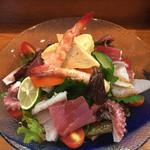 鮨・淡路 - お寿司やさんのサラダ