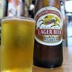 民生食堂 天平 - 瓶ビール大¥700