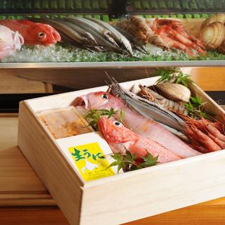 目利きが選んだ旬の鮮魚が味わえます