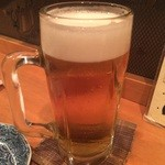 本気炭火焼鶏 豆 - ☆生ビールで乾杯です☆