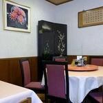 珍楽飯店 - 壁に架かる書画はかなり立派