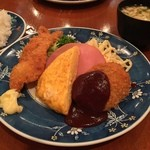グリル金プラ - 洋食ランチ(ライス&豚汁付)