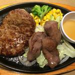 ステーキのどん - 料理写真:ハンバーグ&仙台牛たんランチ