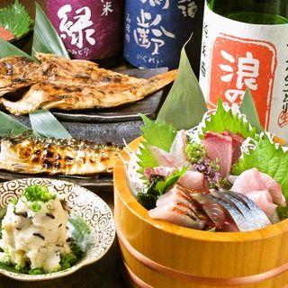 旨い刺身と日本酒を。。。