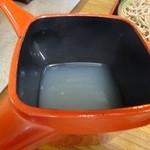 そば処けん太 - トロミのある蕎麦湯