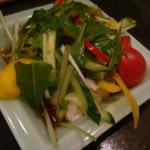 三番瀬 - お通し (野菜の下は豆腐)