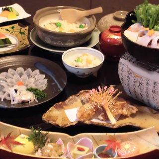 四季折々の旬の味を楽しめる懐石料理。