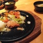 Suzuya - 1度目の来訪にて:とんかつ茶漬け(小)+温玉キムチ(食べかけ失礼!)
