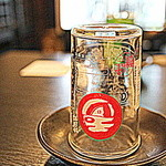 麦酒庵 - チェイサー用のグラス(2015.Sep)