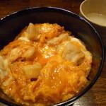 毘央志 - 親子丼(大盛り)と鶏スープ