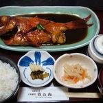 海鮮料理 竹ノ内 - 煮付け上定食(金目鯛)