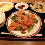 とうりえん - 海老チリ定食