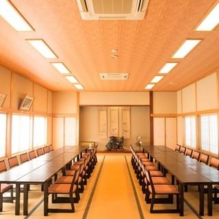 全室個室のみで、50人のご宴会も対応できる大部屋