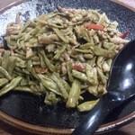 42403763 - ・酸豆角炒肉末 880円 湖南伝統ササゲの肉味噌炒め