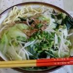 新八食堂 - 野菜そば650円
