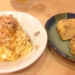 ロクマル - ポテトサラダ 寿司屋の玉子焼き