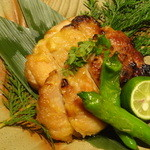 越後屋 久保田 - こだわり地鶏の味噌焼き(逸品料理)/2015年9月来店