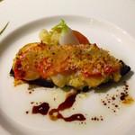 42408392 - ホタテとズッキーニのソテー香草風味のガーリックバターソース
