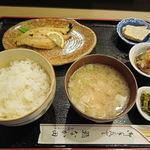 なか田鮨 - 焼魚定食(ぎんだら西京)(820円)