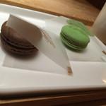 リンツ ショコラ カフェ 自由が丘店 - デリース ピスタチオとダークチョコ