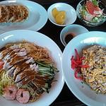 上海園 - バンバンジー冷麺セット