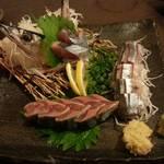 俺の居酒屋 三蔵 - 秋さんまのお造り(580円)