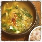 韓国田舎家庭料理 東光 - 豆腐チゲ