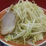 42430155 - 小ラーメン  麺柔らか  野菜マシ  俯瞰図